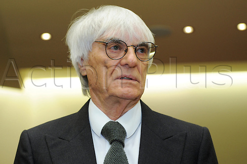 Bernie Ecclestone, CEO and president of F1's governing body, awaits the beginning of another session of the trial against the former head of risk management at Bavarian bank BayernLB  Gribkowsky at the state court in Munich, Germany, 10 November 2011.  Former head of risk management at Bavarian bank BayernLB Gerhard Gribkowsky is charged with corruption, abuse of confidence and tax evasion, after overseeing the sale of BayernLB's commercial rights stake to private equity firm CVC Capital Partners in early 2006. Bernie Ecclestone has admitted to paying Gribkowsky a total of 44 million dollars in 2006 and 2007 from himself and his family holding company Bambino Trust on Monday, 09 November 2011.