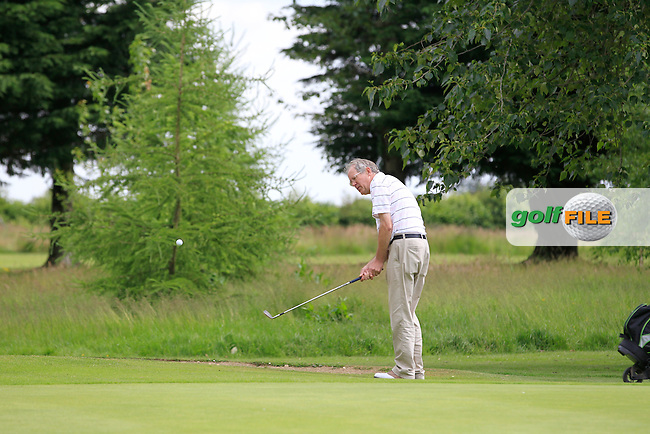 Tom Tyrrell (The Heath) on the 7th green during Round 1 of the Leinster Seniors Amateur Open Championship at Enniscorthy Golf Club on Tuesday 23rd June 2015.<br /> Picture:  Thos Caffrey / www.golffile.ie