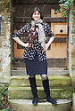 Emma Bridgewater ,potter writer at Oxford Literary Festival  at Corpus Christie College, Oxford  2014 CREDIT Geraint Lewis