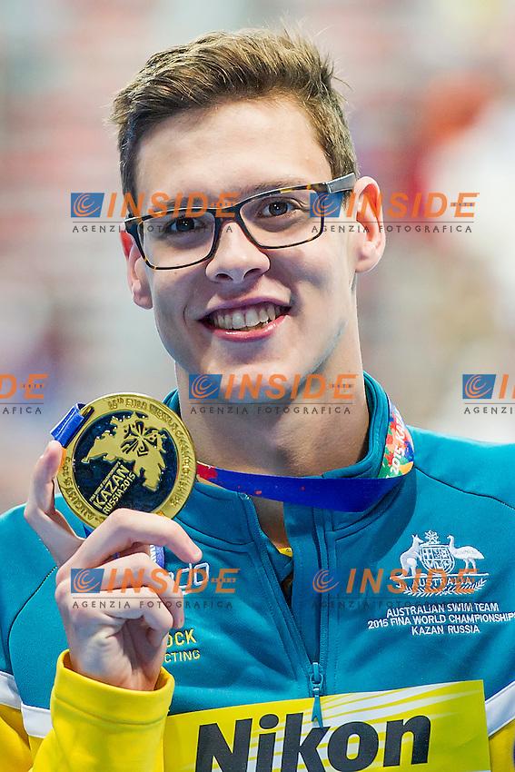 LARKIN Mitchell AUS<br /> 100 Backstroke Men Final Gold Medal<br /> Swimming - Kazan Arena<br /> Day12 04/08/2015<br /> XVI FINA World Championships Aquatics Swimming<br /> Kazan Tatarstan RUS July 24 - Aug. 9 2015 <br /> Photo A.Masini/Deepbluemedia/Insidefoto