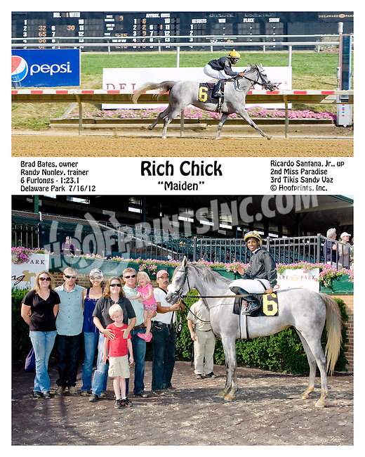 Rich Chick winning at Delaware Park on 7/16/12