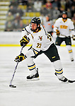 30 October 2010: University of Vermont Catamount forward Josh Burrows, a Senior from  Prairie Grove, IL, in action against the University of Maine Black Bears at Gutterson Fieldhouse in Burlington, Vermont. The Black Bears defeated the Catamounts 3-2 in sudden death overtime. Mandatory Credit: Ed Wolfstein Photo