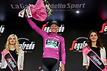 German Champion Pascal Ackermann (GER) Bora-Hansgrohe retakes the Maglia Ciclamino at the end of Stage 18 of the 2019 Giro d'Italia, running 222km from Valdaora-Olang to Santa Maria di Sala, Italy. 30th May 2019<br /> Picture: Gian Mattia D'Alberto/LaPresse | Cyclefile<br /> <br /> All photos usage must carry mandatory copyright credit (© Cyclefile | Gian Mattia D'Alberto/LaPresse)