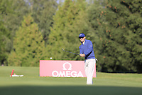 Niclas Fasth (SWE) chips onto the 10th green during Thursday's Round 1 of the 2017 Omega European Masters held at Golf Club Crans-Sur-Sierre, Crans Montana, Switzerland. 7th September 2017.<br /> Picture: Eoin Clarke | Golffile<br /> <br /> <br /> All photos usage must carry mandatory copyright credit (&copy; Golffile | Eoin Clarke)