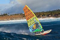 Jeff Henderson at the 6th and final stop of the 2012 American Windsurfing Tour (AWT), in Ho'okipa Beach Park (Maui, Hawaii, USA)