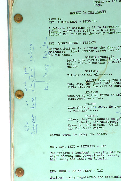 Close up possessions of Marlon Brando that went for auction at Christies