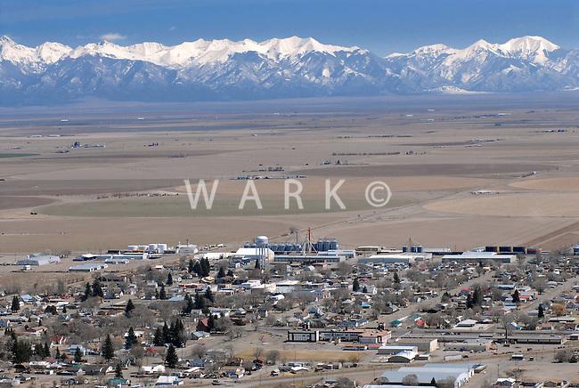 aerial view of Center, Colorado