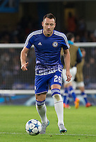 John Terry of Chelsea warms up during the UEFA Champions League group G match between Chelsea and FC Porto at Stamford Bridge, London, England on 9 December 2015. Photo by Andy Rowland.