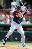 New Hampshire Fisher Cats first baseman Clint Robinson #25 during a game against the Erie Seawolves on June 9, 2013 at Jerry Uht Park in Erie, Pennsylvania.  New Hampshire defeated Erie 3-2.  (Mike Janes/Four Seam Images)