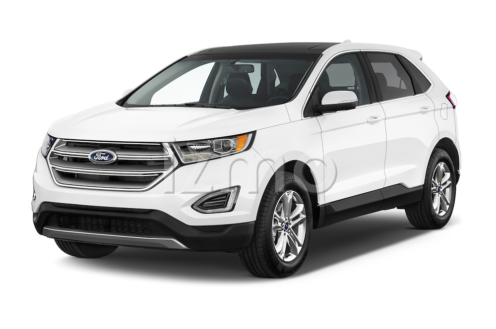 2018 Ford Edge SEL 5 Door Suv Angular Front stock photos of front three quarter view