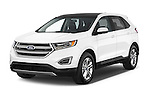 2015 Ford Edge SEL 5 Door Suv Angular Front stock photos of front three quarter view