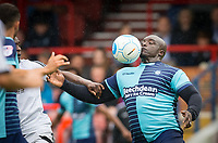 Adebayo Akinfenwa of Wycombe Wanderers during the pre season friendly match between Aldershot Town and Wycombe Wanderers at the EBB Stadium, Aldershot, England on 22 July 2017. Photo by Andy Rowland.