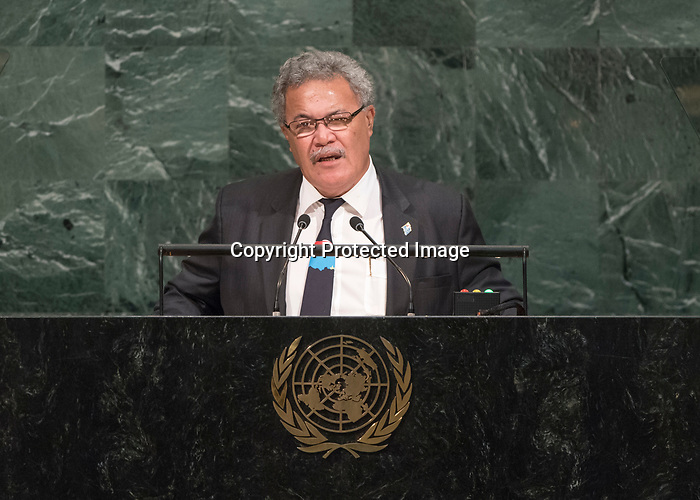 72 General Debate – 20 September <br /> <br /> by His Excellency Enele Sosene Sopoaga, Prime Minister of Tuvalu
