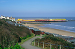 AF5GNB Walton on the Naze pier, beach huts and sandy beach Essex England