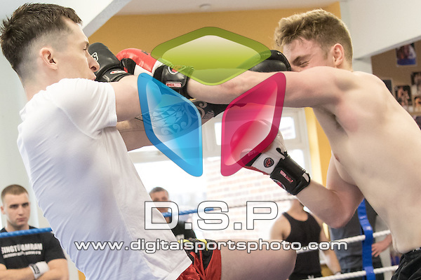 Singtocamram Muay Thai Gym Interclub 4. Photo by: Simon Downing<br /> <br /> Singtocamram Gym Interclub 4 - Sunday 20th March 2016. Singtocamram Gym, Salisbury, Wiltshire, United Kingdom.