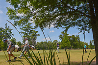 Martin Laird (SCO), Russell Knox (IRL), and Charley Hoffman (USA) approach the tee on 14 during Round 3 of the Zurich Classic of New Orl, TPC Louisiana, Avondale, Louisiana, USA. 4/28/2018.<br /> Picture: Golffile | Ken Murray<br /> <br /> <br /> All photo usage must carry mandatory copyright credit (&copy; Golffile | Ken Murray)