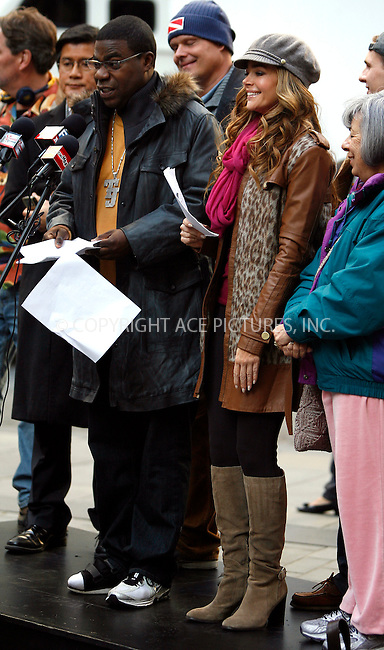 WWW.ACEPIXS.COM . . . . .  ....October 17 2011, New York City....Actress Denise Richards and Tracy Morgan on the set of the TV show '30 Rock' at the Rockefeller Center on October 17, 2011 in New York City.....Please byline: CURTIS MEANS - ACE PICTURES.... *** ***..Ace Pictures, Inc:  ..Philip Vaughan (212) 243-8787 or (646) 679 0430..e-mail: info@acepixs.com..web: http://www.acepixs.com