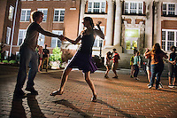 Salsa in the Streets in front of Lee Hall<br />  (photo by Megan Bean / &copy; Mississippi State University)