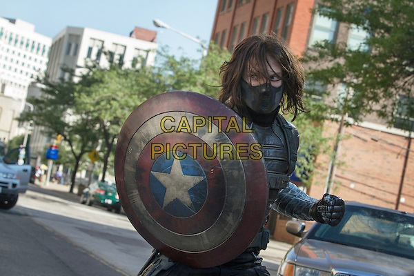 Sebastian Stan<br /> in Captain America: The Winter Soldier (2014) <br /> *Filmstill - Editorial Use Only*<br /> CAP/FB<br /> Image supplied by Capital Pictures