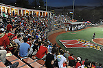 during the Terps' victory over the Michigan Wolverines the Field Hockey and Lacrosse complex on April 18, 2015.