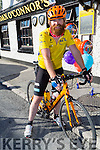 Mark O'Connor arrives from Cricklewood London to Greyhound Bar after his cycle cheering his welcome were his family and friends on Monday.