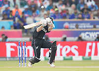 Kane Williamson (New Zealand) takes evasive action during India vs New Zealand, ICC World Cup Semi-Final Cricket at Old Trafford on 9th July 2019