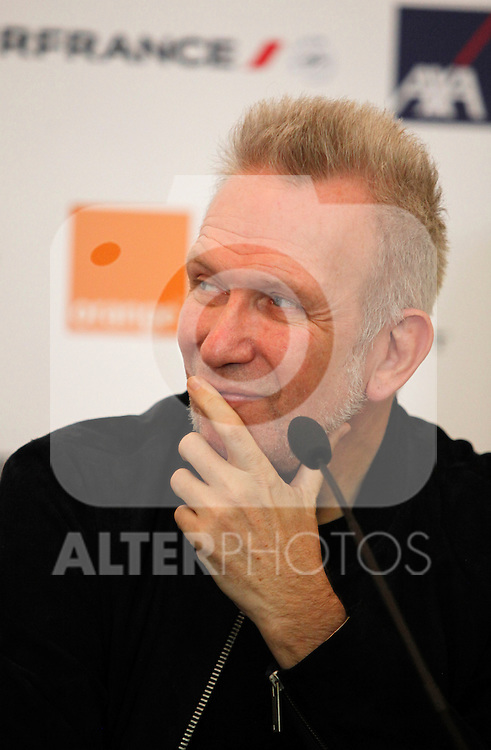 "Designer Jean Paul Gaultier attends the press conference of the ""X Prix Dialogo"" in the France Ambassador residence in Madrid, Spain. June 4, 2013. (Victor J Blanco/Alterphotos)"