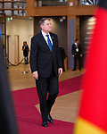 Brussels, Belgium -- November 24, 2017 -- Eastern Partnership Summit, meeting of Heads of State / Government (EU and six Eastern partner countries) at the Europa building - seat of the European Council and Council of the European Union; here, Klaus Werner IOHANNIS, President of Romania -- Photo: © HorstWagner.eu