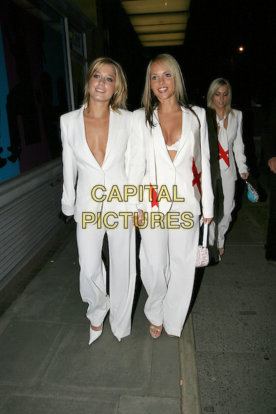 GLAM R US.The Football Factory - UK Charity Film Premiere, Odeon, West End, London, WC2.May 10th, 2004.Glam'R'Us, girl band, full length, full-length, white dress suits, matching outfits, cleavage, plunging necklines.www.capitalpictures.com.sales@capitalpictures.com.© Capital Pictures..