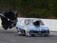 Mar 14, 2015; Gainesville, FL, USA; NHRA pro mod driver Mike Castellana during qualifying for the Gatornationals at Auto Plus Raceway at Gainesville. Mandatory Credit: Mark J. Rebilas-