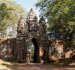 Angkor Thom North Gate 02 - Early morning, south side of Angkor Thom North Gate, Angkor, Cambodia