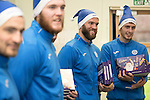 St Johnstone players took some festive cheer to Fairview School in Perth gving out selection boxes and gifts to the pupils&hellip;Pictured from left, Paul Paton, Zander Clark, Alan Mannus and Joe Shaughnessy<br />