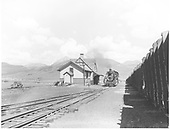 D&amp;RGW #483 switching at the Crested Butte depot.<br /> D&amp;RGW  Crested Butte, CO  Taken by Krause, John - ca. 1950-1955