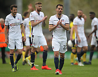 Bolton Wanderers players look dejected<br /> <br /> Photographer Mick Walker/CameraSport<br /> <br /> The EFL Sky Bet Championship - Burton Albion v Bolton Wanderers - Saturday 28th April 2018 - Pirelli Stadium - Burton upon Trent<br /> <br /> World Copyright &copy; 2018 CameraSport. All rights reserved. 43 Linden Ave. Countesthorpe. Leicester. England. LE8 5PG - Tel: +44 (0) 116 277 4147 - admin@camerasport.com - www.camerasport.com