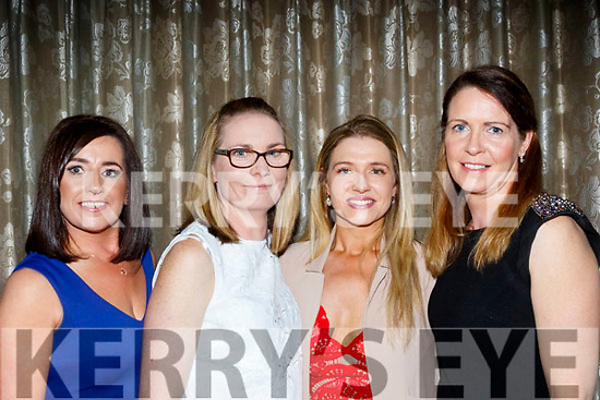 L-R Annil Moriarty, Michelle Griffin, Roisin Curran and geraldine O'Mahony enjoying the Bon Secure Hospital, Tralee, Foundation day celebration, last Friday night in the Ballygarry House hotel, Tralee.