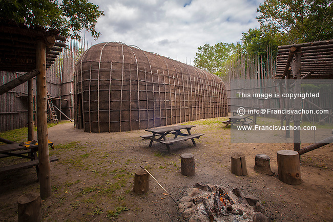 A longhouse is pictured at the Hotel-Musee in Wendake, a Huron reserve enclave within Quebec City, Thursday July 17, 2014. Longhouses were a style of residential dwelling built by native peoples in various parts of North America.