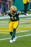 Green Bay Packers cornerback Lenzy Pipkins (41) during a National Football League game against the Tampa Bay Buccaneers on December 2nd, 2017 at Lambeau Field in Green Bay, Wisconsin. Green Bay defeated Tampa Bay 26-20. (Brad Krause/Krause Sports Photography)