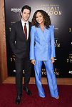 HOLLYWOOD, CA - JULY 27:  Actor Iddo Goldberg (L) and wife/actress Ashley Madekwe arrive at the Premiere Of Amazon Studios' 'The Last Tycoon' at the Harmony Gold Preview House and Theater on July 27, 2017 in Hollywood, California.