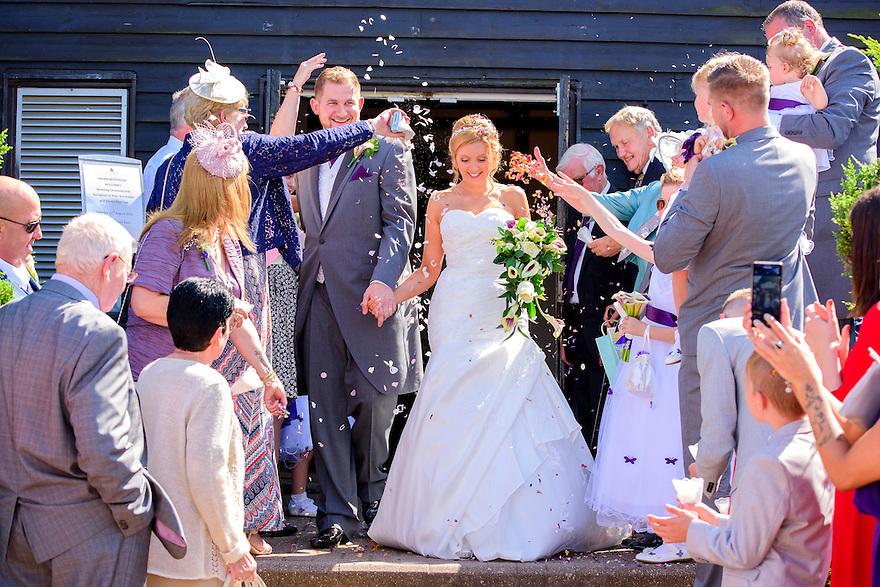 Confetti Celebrations at Knebworth Barns, Stevenage, Hertfordshire.
