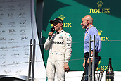 June 11th 2017, Circuit Gilles Villeneuve, Montreal Quebec, Canada; Formula One Grand Prix, Race Day; Lewis Hamilton - Mercedes AMG Petronas wins in Canada and chats with Patrick Stewart