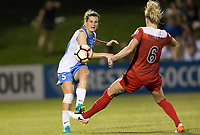 Boyds, MD - Saturday April 29, 2017: Cari Roccaro, Kassey Kallman during a regular season National Women's Soccer League (NWSL) match between the Washington Spirit and the Houston Dash at Maureen Hendricks Field, Maryland SoccerPlex. The Dash won 1-0.