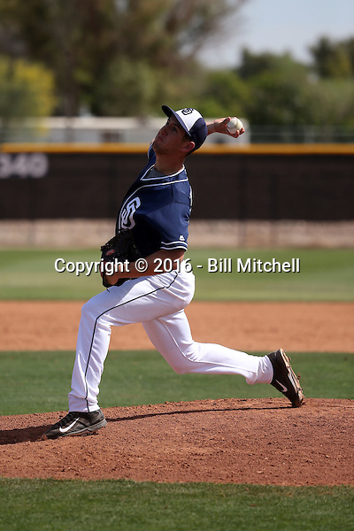Aaron Cressley - San Diego Padres 2016 spring training (Bill Mitchell)