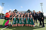 St Cuthberts' celebrate after defeating Christchurch Girls High in the Federation Cup Hockey Final, Lloyd Elsmore Park, Auckland, New Zealand, Saturday September 2019. Photo: Simon Watts/www.bwmedia.co.nz/HockeyNZ