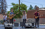 The Band Aurora 1621 performs during the Mural Marathon on Saturday June 30, 2018 in downtown Reno.