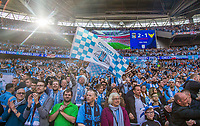 Coventry City supporters celebrate the teams win on full time during the The Checkatrade Trophy / EFL Trophy FINAL match between Oxford United and Coventry City at Wembley Stadium, London, England on 2 April 2017. Photo by Andy Rowland.