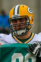 Green Bay Packers offensive lineman Don Barclay (67) during an Organized Team Activity on May 23, 2017 at Clarke Hinkle Field in Green Bay, Wisconsin.  (Brad Krause/Krause Sports Photography)