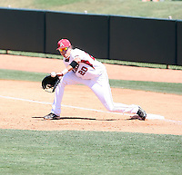 Dominic Ficociello #20 of the Arkansas Razorbacks plays against the Charlotte 49ers in the Tempe Regional of the NCAA baseball post-season at Packard Stadium on June 3, 2011 in Tempe, Arizona. .Photo by:  Bill Mitchell/Four Seam Images.