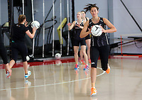 18.10.2015 Silver Ferns Ameliaranne Wells trains for their upcoming netball test match against Australia in Christchurch. Mandatory Photo Credit ©Michael Bradley.