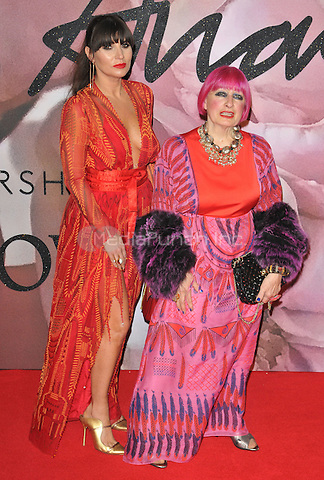 Grace Woodward and Zandra Rhodes at the Fashion Awards 2016, Royal Albert Hall, Kensington Gore, London, England, UK, on Monday 05 December 2016. <br /> CAP/CAN<br /> ©CAN/Capital Pictures /MediaPunch ***NORTH AND SOUTH AMERICAS ONLY***