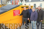 BINS: Members of Killorglin Tidy Towns and Community Council who are objecting to the planned removal of two skips for recycling at the Fair Field, l-r: Donie O'Sullivan, John Healy, Billy Browne, Eric Champ.